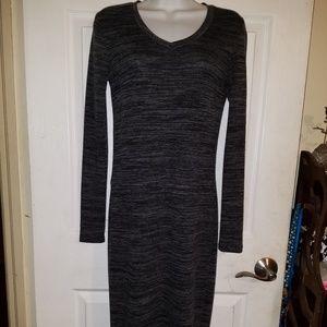 Philosophy Full Length LS V-neck Knit Dress